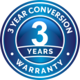3 year conversion warranty
